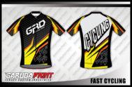 Desain Kaos Sepeda Road Bike Code Fast-Cycling Bermotif Gahar