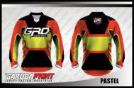 Desain Jersey Sepeda Downhill MTB Kode Pastel Kaya Variasi Warna