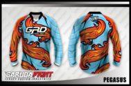 Desain Baju Sepeda Downhill Code Pegasus Unik Bergaya Batik