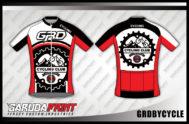 Desain Kaos Sepeda Gowes Code Grdbycycle Merah Putih