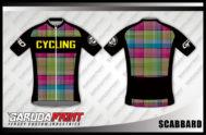 Desain Kaos Sepeda Road Bike dan Gowes Kode Scabbard Motif Kotak Kotak