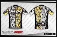 Desain Kaos Sepeda Road Bike Emoticon Sangat Unik