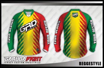 Desain Kaos Sepeda Downhill Reggestyle Super Keren