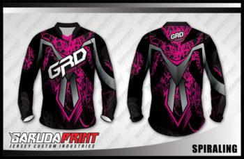 Desain Kaos Sepeda Downhill Spiraling Beda dan Keren