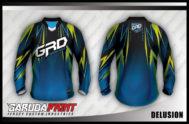 Desain Kaos Sepeda MTB Delusion Gagah dan Berkelas