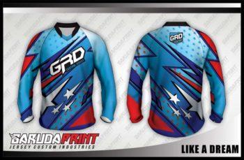 Desain Kaos Sepeda MTB Like a Dream Kombinasi Warna Pas