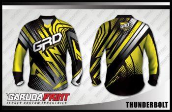 Desain Kaos Sepeda MTB Thunderbolt Ornamen Juara