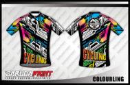 Desain Baju Sepeda Road Bike Code Colourling Lengan Pendek