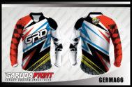 Desain Baju Sepeda Gunung GERMA66 Motif Abstrak Bercak Hitam