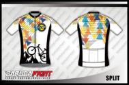 Desain Baju Sepeda Road Bike dan Gowes Kode Split Bergaya Modern