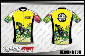 Desain Jersey Sepeda Road Bike Heaving-Fun Bisa Custom