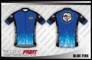 Desain Kaos Sepeda Gowes Blue Fire Paling Keren