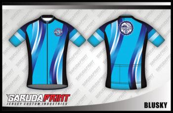 Desain Kaos Sepeda Gowes Blusky Simple Tapi Oke
