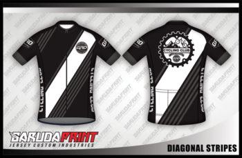 Desain Jersey Sepeda Gowes Diagonal Stripes Yang Bikin Melting