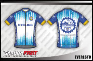 Desain Jersey Sepeda Gowes Everesto Layaknya Gunung Everest