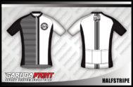Desain Jersey Sepeda Gowes Halfstripe Kalem dan Gagah