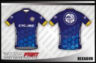Desain Jersey Sepeda Gowes Hexagon Model Terbaru