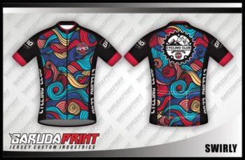 Desain Baju Sepeda Gowes Swirly Yang Bikin Ngiri