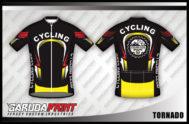 Desain Jersey Sepeda Gowes Tornado Motif Mewah