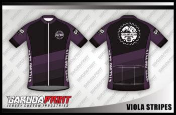 Desain Baju Sepeda Gowes Viola-Strips Untuk Si Manis