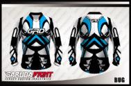 Desain Jersey Sepeda Downhill MTB Code Bug Lengan Panjang Yang Unik