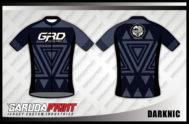 Desain Kostum Sepeda Gowes Code Darknic Hitam Abu Abu Yang Gagah