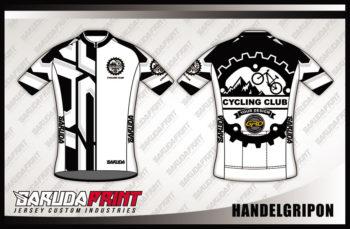 Desain Kaos Sepeda Road Bike Code Handelgripon Warna Hitam Putih Yang Elegan