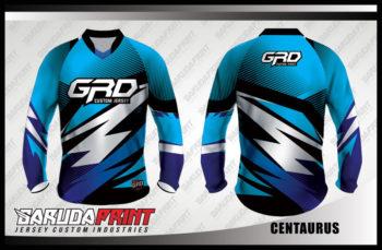 Desain Baju Sepeda Gunung MTB Code Centaurus Warna Biru Tampil Lebih Maskulin