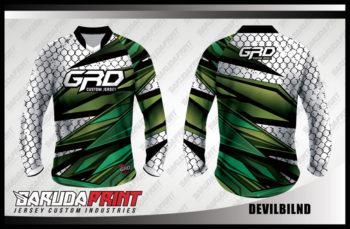 Desain Baju Sepeda Gunung MTB Code Devilbilnd Yang Tampil Kekinian