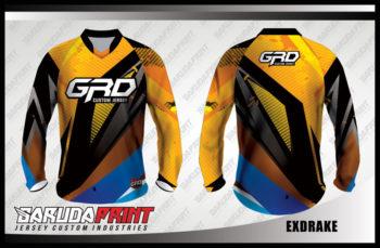Desain Baju Sepeda MTB Code Exdrake Yang Menawan