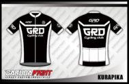Desain Jersey Sepeda Balap Code Kurapika Warna Hitam Putih Serasi