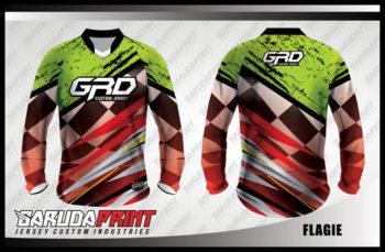 Desain Baju Sepeda Downhill Code Flagie Yang Trendy Dan Kekinian