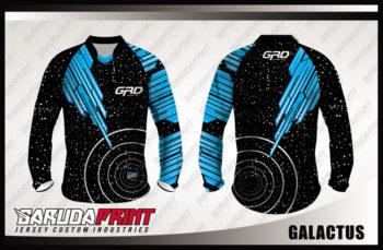 Desain Jersey Sepeda Gunung Code Galactus Gradasi Warna Hitam Biru