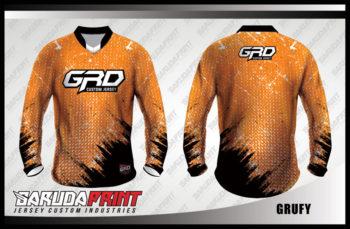 Desain Kaos Sepeda Gunung Code Grufy Warna Coklat Menawan