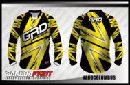 Desain Jersey Sepeda BMX Code Nanocolumbus Warna Kuning Hitam