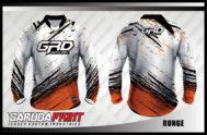 Desain Baju Sepeda BMX Code Runge Warna Putih Yang Unik