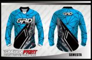 Desain Baju Sepeda Downhill Code Semesta Warna Biru Hitam