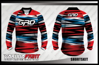 Desain Baju Sepeda BMX Code Shortskit Motif Zig Zag Yang Unik