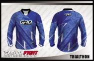 Desain Baju Sepeda MTB Code Trialthon Gradasi Warna Biru