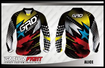 Baju Sepeda Full Print Lengan Panjang Kaya Variasi Warna