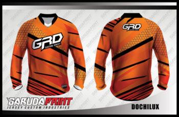 Desain Kaos Sepeda Gunung Code Dochilux Warna Coklat Yang Trendy