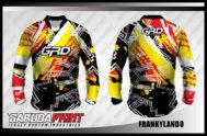 Desain Baju Sepeda MTB Frankylando Full Colour Kekinian