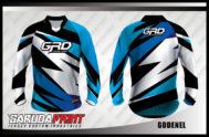 Desain Kaos Sepeda Downhill Code Gonenel Motif Zig Zag Terbaru