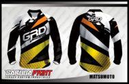 Desain Jersey Sepeda BMX Code Matsumoto Motif Zig Zag Yang Keren