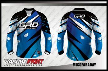 Desain Baju Sepeda MTB Code Missfaraday Motif Zig Zag Yang Menawan