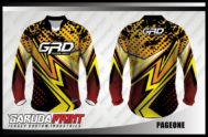 Desain Kaos Sepeda Downhill Code Pageone Gradasi Warna Coklat Elegan