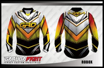 Desain Baju Sepeda BMX Code Robox Warna Putih Kuning Hitam Yang Trendy