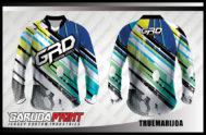 Desain Jersey Sepeda Downhill Code Truemarijoa Motif Garis Diagonal Kekinian