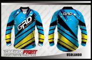 Desain Jersey Sepeda BMX Code Usolando Warna Biru Yang Macho Banget