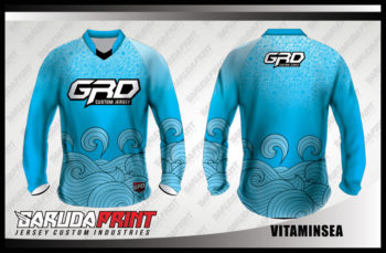 Desain Kaos Sepeda Gunung Printing Code Vitaminsea Warna Biru Laut